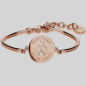 【送料無料】ブレスレット アクセサリ― ブレスレットチャクラモディファイスチールローズbrosway, bracelet chakra, mod ladybird steel rose bhk52,