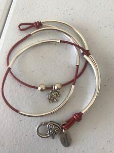 【送料無料】ブレスレット アクセサリ― ジェームスシルバーエレファントブレスレットラップlizzy james silver elephant wrap bracelet small