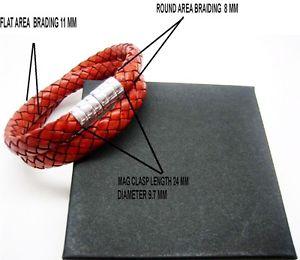 【送料無料】ブレスレット アクセサリ― スターリングシルバーイタリアンレザーブレスレットsterling silver 925 magnatic clasps wbraided italian leather bracelet menwomen