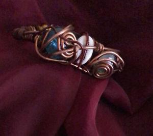 【送料無料】ブレスレット アクセサリ― カフブレスレット listingmens cuff bracelet copper wire wrapped