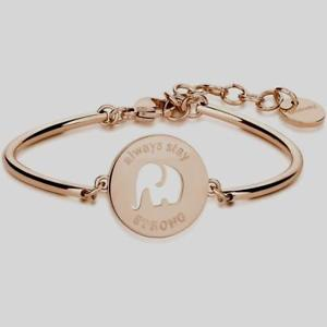 【送料無料】ブレスレット アクセサリ― ブレスレットチャクラモディファイエレファントスチールローズbrosway, bracelet chakra, mod elephant, steel rose bhk25,