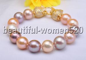 【送料無料】ブレスレット アクセサリ― ラウンドエジソンブレスレットz8078 aaa natural 15mm pinklavender round edison pearl bracelet panthera 8inc