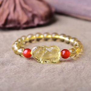 【送料無料】ブレスレット アクセサリ― ペンダントシトリンブレスレットgenuine natural yellow crystal pendant citrine bracelet 8mm aaa