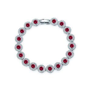 【送料無料】ブレスレット アクセサリ― アンジェリックテニスブレスレットルビーレッドスワロフスキーangelic tennis bracelet with ruby red swarovski crystals bridal wedding wgp myjs