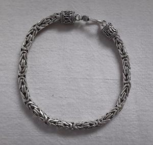【送料無料】ブレスレット アクセサリ― リンクブレスレットシルバーagnes creations link bracelet man or woman byzantyne 925 silver