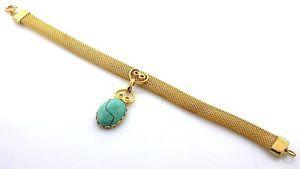 【送料無料】ブレスレット アクセサリ― ゴールドカラービンテージ×ナチュラルズターコイズキャブメッシュブレスレット7 gold color vintage high quality 18x13 natural az turquoise cab mesh bracelet