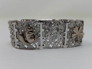 【送料無料】ブレスレット アクセサリ― ブレスレットアールデコsilver metal bracelet, art deco, animal decor