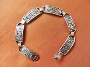 【送料無料】ブレスレット アクセサリ― アンティークビンテージエジプトシルバーブレスレットamazing antique vintage egyptian silver bracelet ancient hieroglyphicsstamped