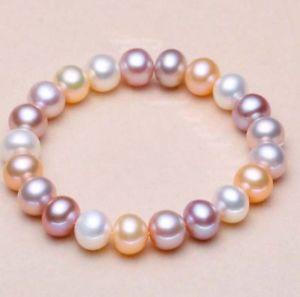 【送料無料】ブレスレット アクセサリ― ホワイトピンクパープルストレッチブレスレット78mm white pink purple freshwater cultured pearl stretch bracelet 75 y3395