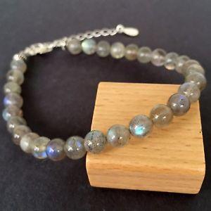 【送料無料】ブレスレット アクセサリ― ブレスレットスターリングシルバーリンククラスプzen bracelet natural 6mm labradortie in 925 sterling silver link clasp 1244