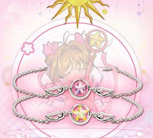 【送料無料】ブレスレット アクセサリ― ノスターワンドスターリングシルバーブレスレットcardcaptor sakura 20th kinomoto star wand 925 sterling silver bracelet cos gift