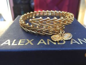 【送料無料】ブレスレット アクセサリ― アレックスビンテージジプシーイエローゴールドビーズラップブレスレット alex and ani vintage gypsy 66 shiny yellow gold beaded wrap bracelet