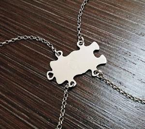 【送料無料】ブレスレット アクセサリ― ブレスレットパズルハーフシルバーブレスレットbracelet puzzle kano better half silver 925 2 bracelets engraving