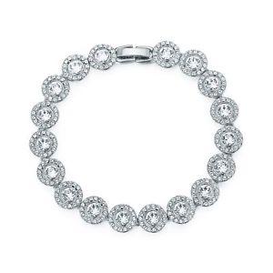【送料無料】ブレスレット アクセサリ― アンジェリックテニスブレスレットスワロフスキークリスタルangelic tennis bracelet with swarovski crystals bridal wedding gift wgp myjs