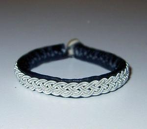 【送料無料】ブレスレット アクセサリ― スウェデンピューターブレスレットトナカイswedish pewter bracelet, saami reindeer leather nr1