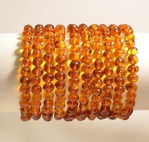 【送料無料】ブレスレット アクセサリ― ロットバルトバロックコニャックブレスレットlot 10 whole natural baltic amber baroque cognac adult bracelet c4514
