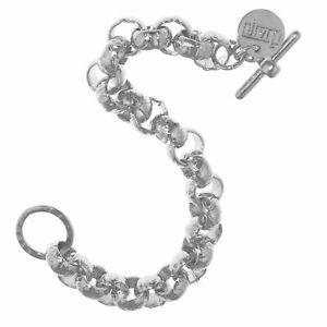 【送料無料】ブレスレット アクセサリ― スターリングシルバーホワイトブロンズメッキラウンドベルチャーブレスレットトグルsterling silver amp; white bronze plated hammered round belcher bracelet w toggle