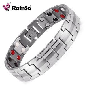 【送料無料】ブレスレット アクセサリ― シルバーカラーブレスレットチタニウムブレスレットmagnetic titanium bracelet for men silver color bracelets