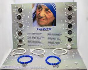 【送料無料】ブレスレット アクセサリ― スチールブレスレットカルカッタマザーテレサコルカタsteel bracelet or agate with ode to life of mother teresa of kolkata calcutta