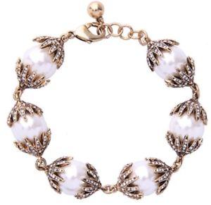【送料無料】ブレスレット アクセサリ― サンクリスタルラインストーンホワイトパールビーズブレスレットconstellation star moon sun chunky crystal rhinestone white pearl bead bracelet