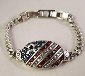 【送料無料】ブレスレット アクセサリ― ブライトンアメリカーナハートブレスレットスワロフスキークリスタルbrighton americana red white amp; blue heart bracelet wswarovski crystals