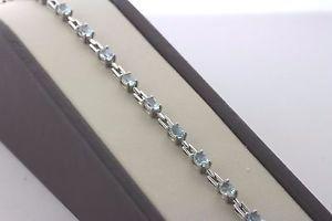 【送料無料】ブレスレット アクセサリ― スターリング925トパーズブレスレット 725sterling silver 925 oval light blue topaz bracelet 725