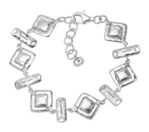 【送料無料】ブレスレット アクセサリ― リンクブレスレットsilpada b3408 hammred link sterling silver geometric detail bracelet