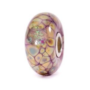 【送料無料】ブレスレット アクセサリ― ビーズガラスモザイクtrollbeads original beads glass mosaic of flowers purple tglbe 20054