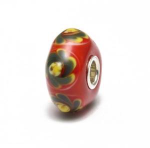 【送料無料】ブレスレット アクセサリ― trollbeadsグラスa41trollbeads bead glass single red flowers green a41