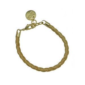 【送料無料】ブレスレット アクセサリ― ゴールドメッキメッシュブレスレット18k gold plated mesh bracelet