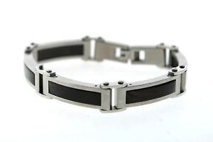 【送料無料】ブレスレット アクセサリ― リンクinlayedjoeジョーゼフアブードステンレスウッドブレスレットjoe joseph abboud stainless steel rectangular link inlayed wood bracelet