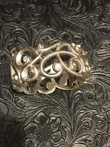 【送料無料】ブレスレット アクセサリ― ブライトンシルバーカフブレスレットauthentic brighton scrolly silver cuff bracelet