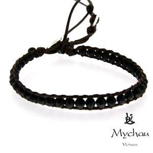 【送料無料】ブレスレット アクセサリ― シルバーオニキスベトナムブレスレットmychau vietnamese bracelet in silver and onyx bhs7041