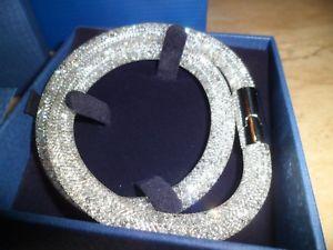 【送料無料】ブレスレット アクセサリ― スワロフスキースターダストシルバーダブルブレスレットbnib swarovski stardust silver double bracelet *** gift bag included 7999