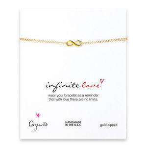 【送料無料】ブレスレット アクセサリ― dogearedゴールドブレスレットdogeared small gold dipped infinite love infinity boxed bracelet