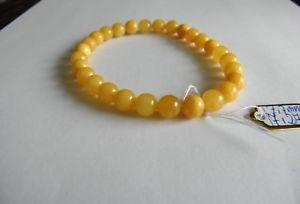 【送料無料】ブレスレット アクセサリ― バルトラウンドビーズブレスレットミリbaltic amber round beads bracelet 7,7 mm butterscotch color 7,27ggeniune
