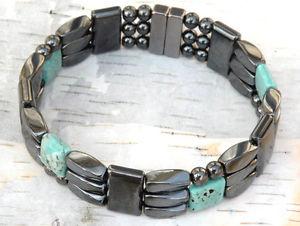 【送料無料】ブレスレット アクセサリ― ヘマタイトブレスレットチョークターコイズクリスマスクリスマスmagnetic hematite bracelet anklet chalk turquoise 3 row 4 christmas xmas