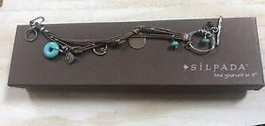 【送料無料】ブレスレット アクセサリ― スターリングスモーキークオーツブロンズレザーブレスレットsilpada sterling silver howlite smoky quartz bronze leather bracelet b2086