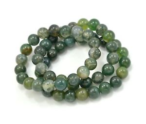 【送料無料】ブレスレット アクセサリ― コケメノウビーズブレスレットset of 3 moss agate gemstone elastic bead bracelet 8mm