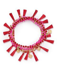 【送料無料】ブレスレット アクセサリ― スコットジュリーピンクミックスドルゴールドストレッチブレスレットnwt kendra scott julie gold stretch bracelet in pink agate mix 85
