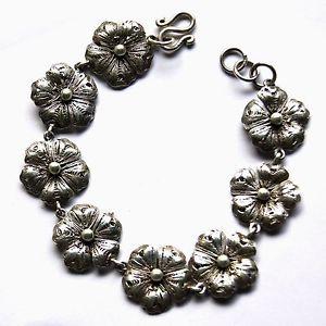 【送料無料】ブレスレット アクセサリ― ブレスレットスターリングシルバーflower bracelet 925 sterling silver