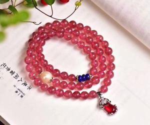 【送料無料】ブレスレット アクセサリ― ストロベリーパールブレスレットnatural strawberry quartz crystal s925 silver pixiuamp;pearl three circle bracelet