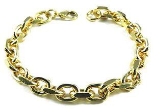 【送料無料】ブレスレット アクセサリ― アンカーブレスレットmmアンカーチェーンブレスレットメンズブレスレットメンズレディースanchor bracelet 8mm 1727cm gold plated anchor chain bracelet mens bracelet mens