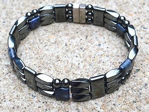 【送料無料】ブレスレット アクセサリ― ヘマタイトジュエリーブレスレットmens powerful magnetic hematite jewelry bracelet anklet strong 3 row therapy