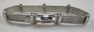 【送料無料】ブレスレット アクセサリ― スワロフスキークリスタルシルバーメッシュブレスレットswarovski crystal silver mesh bracelet