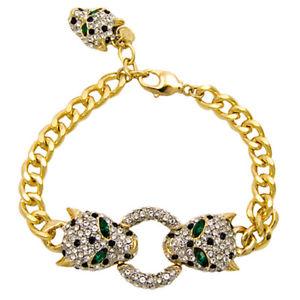 【送料無料】ブレスレット アクセサリ― バトラーウィルソンクリスタルヘッドリングゴールドトーンチェーンブレスレットbutler and wilson crystal leopard head ring gold tone chain bracelet