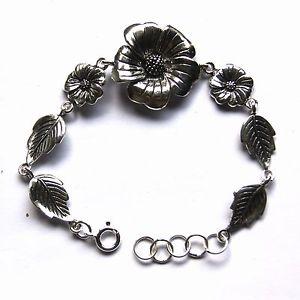 【送料無料】ブレスレット アクセサリ― ブレスレットスターリングシルバーインチflower bracelets sterling silver length 75 inch