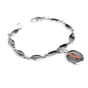 【送料無料】ブレスレット アクセサリ― カスタムブレスレットスチールmyiddr custom engraved brown colon cancer awareness bracelet 316l steel