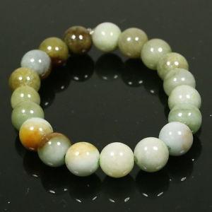 【送料無料】ブレスレット アクセサリ― マルチグリーンブレスレットround beads multi color green bracelet genuine handmade grade a jadeite jade