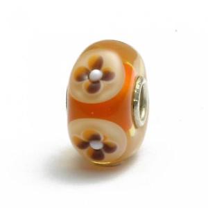 【送料無料】ブレスレット アクセサリ― trollbeadsグラスユニークooakオレンジa159trollbeads glass unique ooak orange flower a159